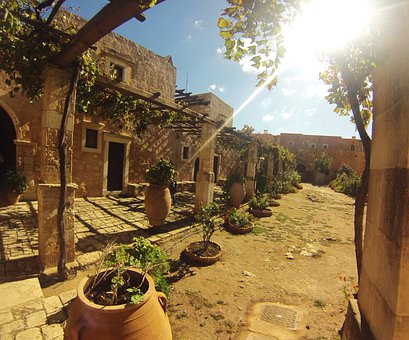 Arkadi, Crete, Rethymno, Monastery, Greece