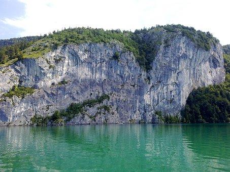 Lake Wolfgang, Hawk Stone Wall, Rock, Lake
