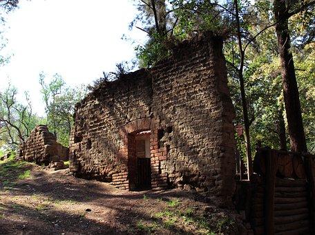Ruins, Wall, Chautla, Mexico, State Of Mexico, Stone