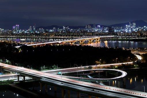 Eungbongsan, Seongsu Bridge, Night View