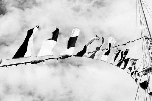Flags, Wind, Sailing Boat, Mast, Boat, Nautical, Signal