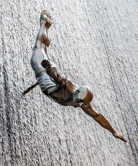 Springer, High Diver, Jump, High Diving, Sport, Statue