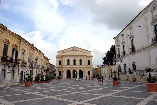 Teatro, Cerignola, Mercadante, Square, Piazza, Puglia
