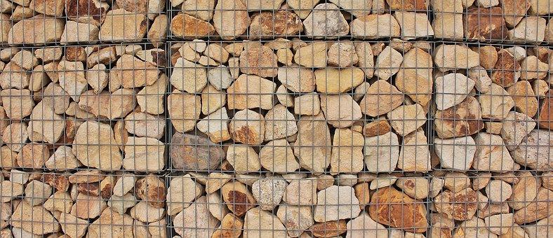 Wall, Stones, Grid, Steingitterbox, Stone Wall, Brown