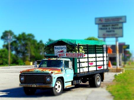 Vans, Truck, Tiltshift, Colorful, Old, Usa