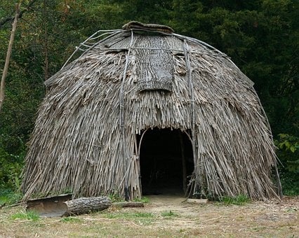 Virginia, Indian Historic Village, Home, Bark, Reeds
