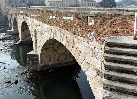 Verona, Bridge, Stone, Ancient, Monument, River, Adige
