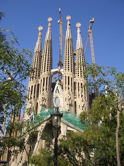 Spain, Catalonia, Barcelona, Gaudí, Architecture