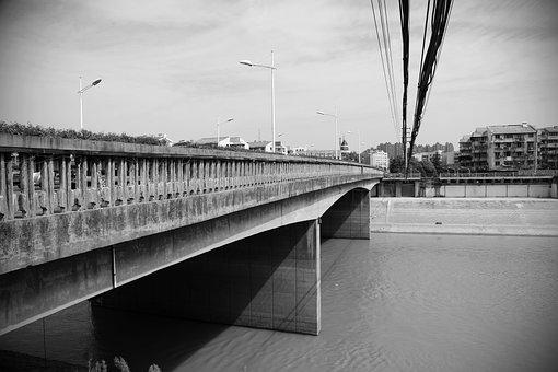 Black And White, Bridge, Chinese Architecture