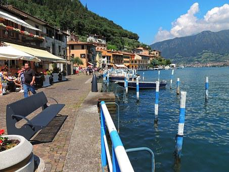 Lago Diseo, Italy, Lake, Water, Views, Summer, Blue