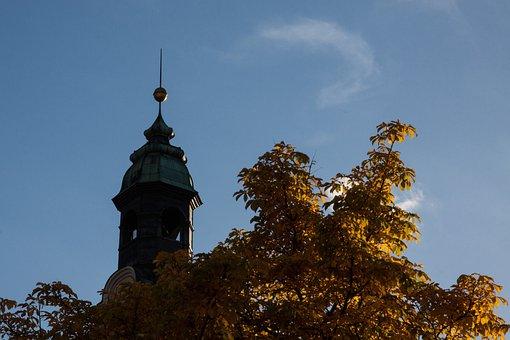 Gallwitz, Gables Tower, Ulm, City, City View, Autumn