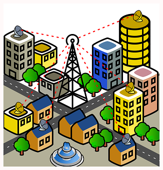 City, Wireless, Connection, Mobile, Antenna, Radiation