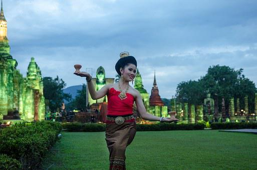 Thailand, Buddha, Happiness, Waman, Traditional, Dance