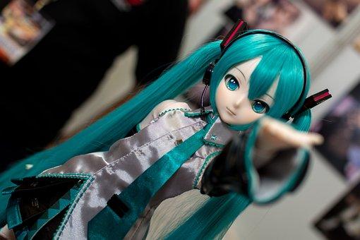 Hatsune Miku, Doll, Dollfie, Manga, Toy, Plastic