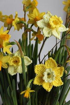 Narcis, Crochet Flowers, Floral Crochet, Crochet
