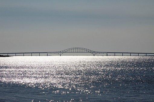 Bridge, Ocean, Sea, Bowstring Arch Bridge
