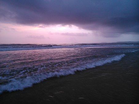 Waves, Beach, Shore, Water, Nature, Coast, Wet, Blue