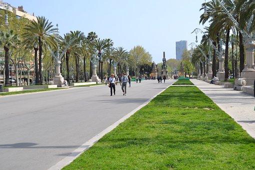 Street, Barcelona, Tourism, Travel, Spain, City