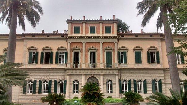 Pisa, Orto Botanico, Garden, Tuscany, Palma, Palazzo