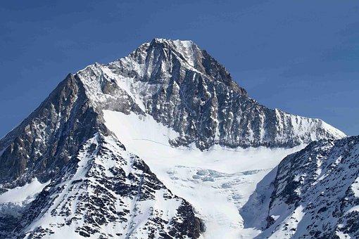 Bietschhorn, Mountain, Valais, Alpine, Snow