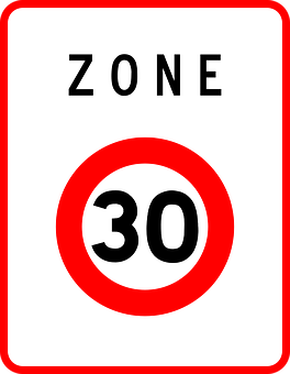 Speed Limit, Zone, 30, Sign, Road Sign, Roadsign