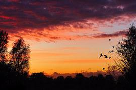 Sunset, Afterglow, Aufbruchstimmung, Calming, Colorful
