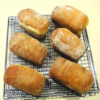 Mini Bread, White Flour, Baked, Food