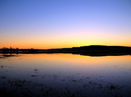 Blue, Hour, Blue Hour, Water, Evening, Uehlfeld
