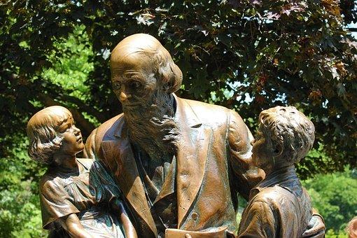 Bronze, John Ball, Park, Zoo, Children, Outside, Nature