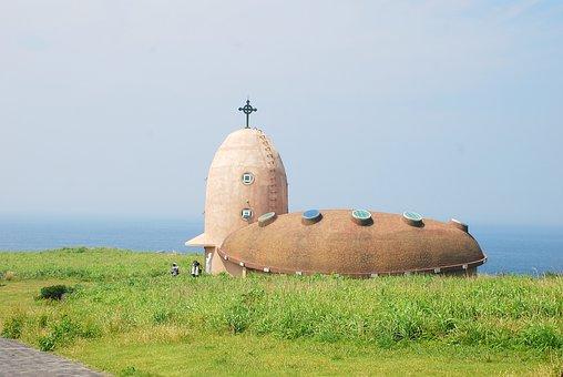 Marado, Korea, Cathedral, Cross, Jeju Island, Religion