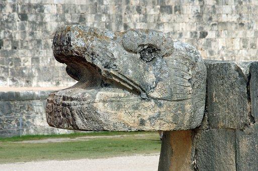 Mexico, Chichen Itza, Snake, Maya, Ruins
