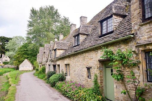 Village, Cottages Row, Cottages, Old Cottages, Cotswold