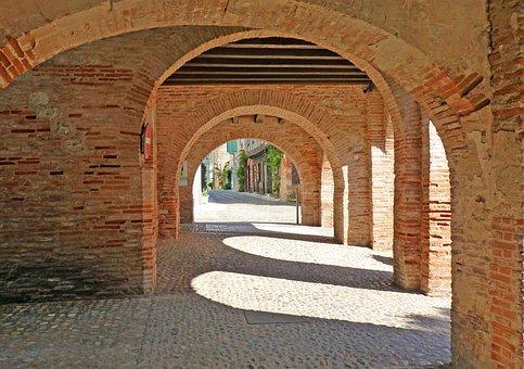 Covered, Middle Ages, Brick, Former, France, Old