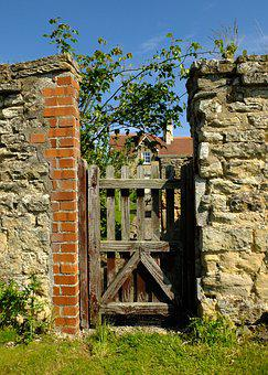 Gate, Entrance, Ryedale, Coneysthorpe, Door, Village