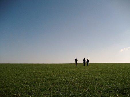 Walking, Countryside, Dusk, Rambling, Fields