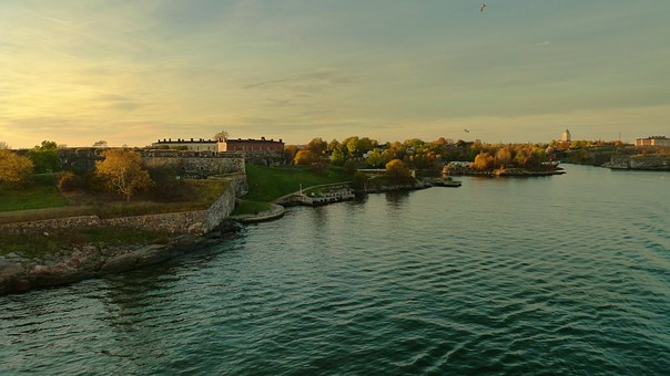 Finland, Helsinki, Suomenlinna, Sveaborg, Sky, Water