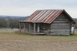 Texas, Prarie Home, Building, Log Building