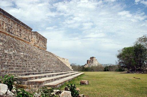 Mexico, Uxmal, Pyramid, Maya, Ruins