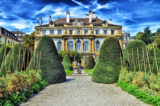 Switzerland, Neuchatel Hotel, Architecture, Grounds