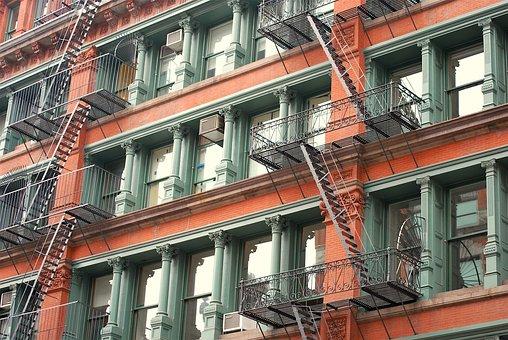 New York, Building, Usa, Soho, Vintage