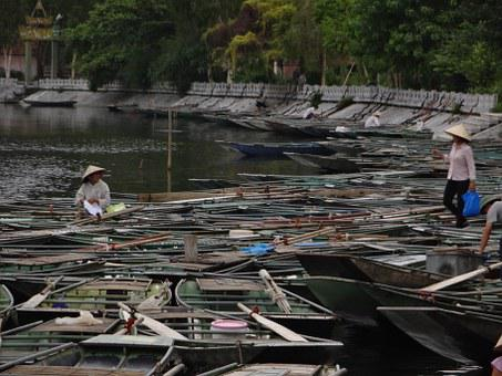 Vietnam, Travel, Asia, Ninh, Binh, Tam, Coc, Water