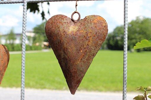 Stainless, Rusty, Heart, Decoration, Love, Romance