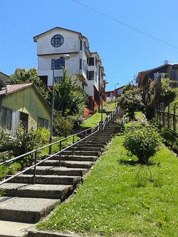 Ancud, House, Stairs
