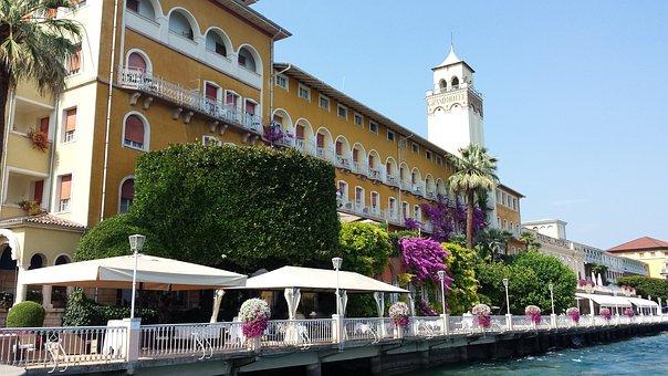 Gardone, Lake Garda, Italy, Summer, Water, Boat