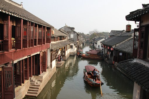 Zhouzhuang, Ship, Water, Jiangnan, Houses, The Scenery
