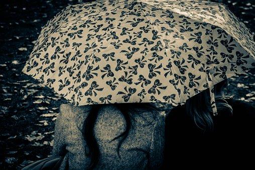 Umbrella, Together, Friendship, Mood, Togetherness