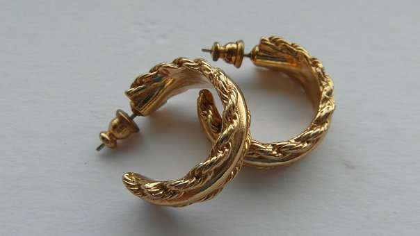 Vintage Gold Earrings, Vintage Gold Jewellery, Earrings