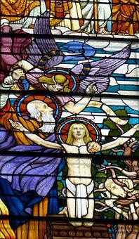 Abraham, Isaac, Victims, Old Testament, Church, Window