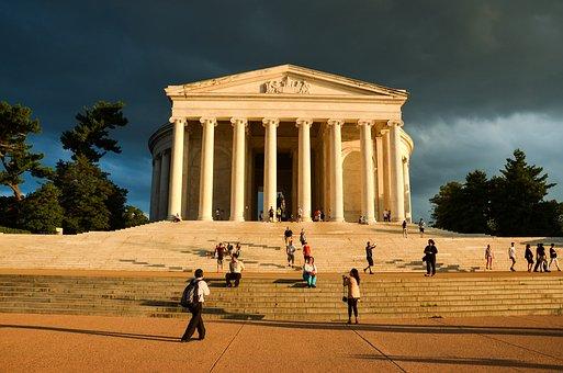 Usa, America, Monument, Washington, Thomas Jefferson