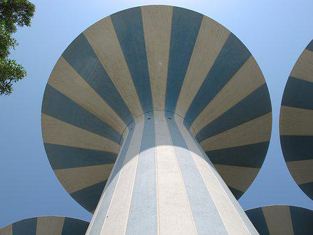 Kuwait, Water Towers, Arabian, Gulf, Tower, Water
